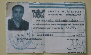 Carnet de Guisado para la Junta Municipal, con fecha de diciembre de 1987