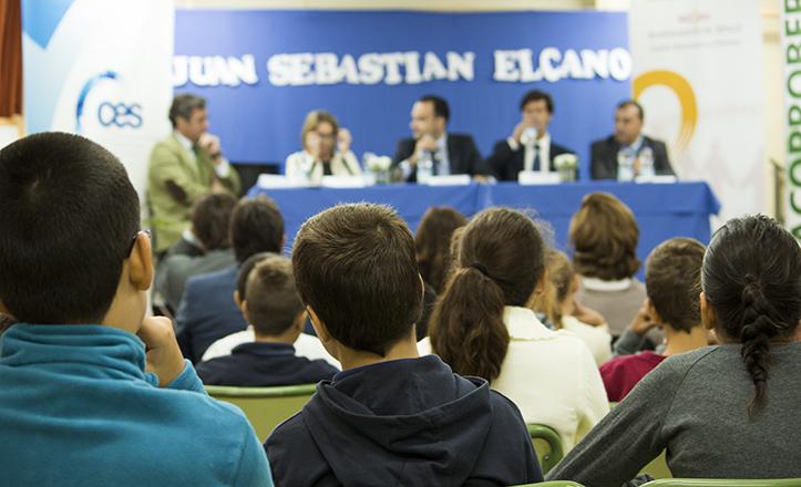 Presentación del proyecto «Emprendedores del Futuro», en el Colegio Elcano / Fran Piñero