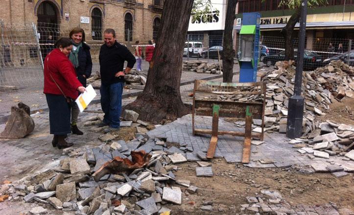 Comienzan las obras de renovación de la Plaza Carmen Benítez