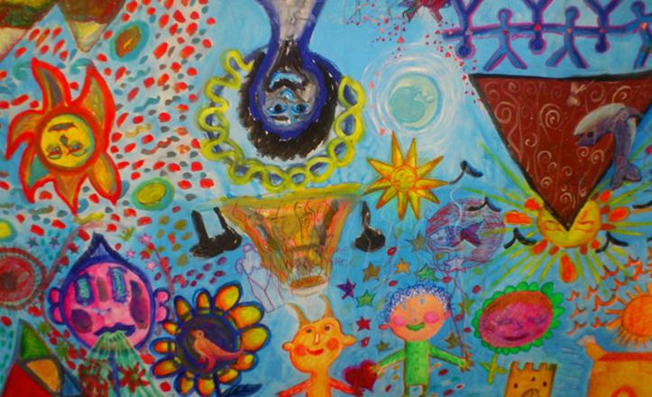 Pinturas realizadas por ennfermos mentales de Faisem en el Hospital Macarena