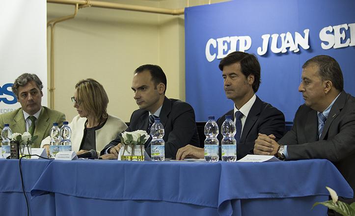 De izquierda a derecha, Juan Macías, Rosa Romero, Rafael Belmonte, Miguel Rus y José Manuel Mira / F.P