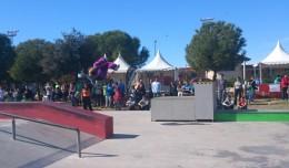 Exhibición de Parkour en el Parque Tamarguillo