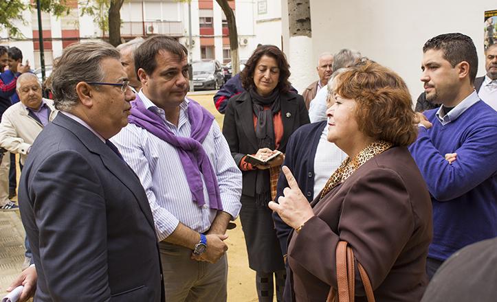 Zoido junto a Jaime Ruiz y Lola Varela, del Zodiaco