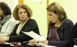 Adela Castaño (PSOE) y María Luisa Infantes (IU) / Fran Piñero