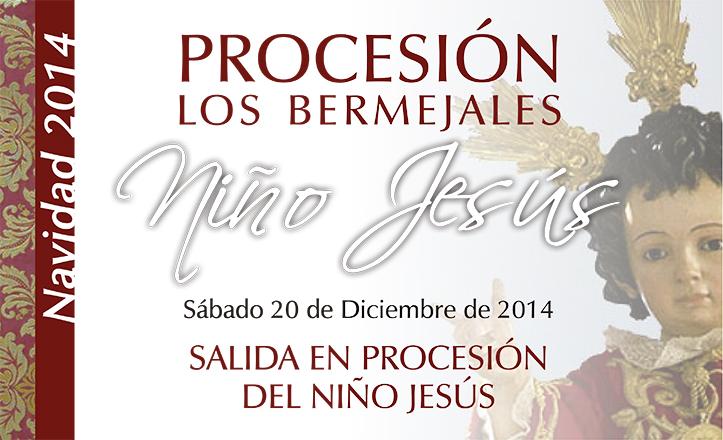 Cartel procesión Niño Jesús de la Iglesia Nuestra Señora del Mar (Los Bermejales)