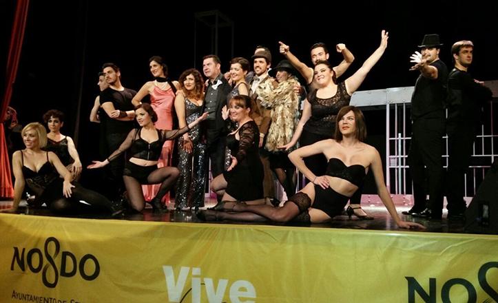 Momento de «Chicago, todo es jazz», representada en el Teatro Virgen de Los Reyes