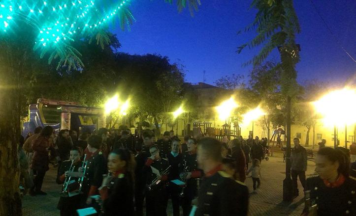 Evento navideño en el Parque Estoril