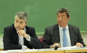 El director y el Delegado del Distrito Este-Alcosa-Torreblanca / Fran Piñero