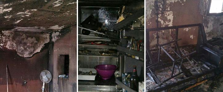 Interior de la vivienda incendiada en el Parque Alcosa el pasado 14 de diciembre