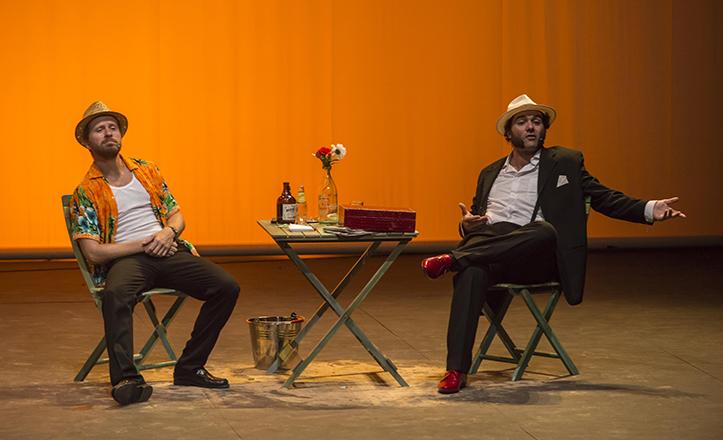 Alberto López y Alfonso Sánchez en «Patente de Corso» en La Rinconada / Millán Herce