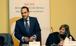 El presidente de la JMD, Rafael Belmonte, y Carmen Caparrós / F. P