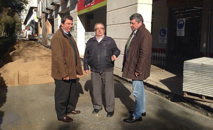 Ignacio Flores y Ramón Bulnes visitan las obras en la avenida de las Ciencias