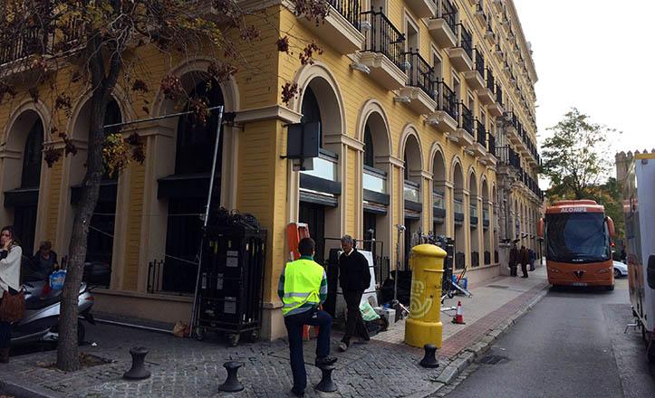 El Hotel Macarena, escenario de la comedia televisiva «Allí abajo»
