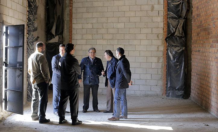 Zoido junto a José Manuel Mira, Miguel Rus y Rafael Belmonte en el Vivero de Empresas de Los Bermejales