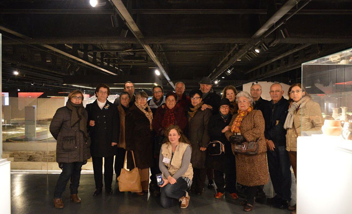 Los mayores de la Macarena visitan el Antiquarium