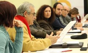 Antonio Andrades entre portavoces socialistas, como Carmen Fuentes y Hugo Montalbán / F.P.