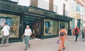 La camisería Idígoras poco antes del cierre, en 2005