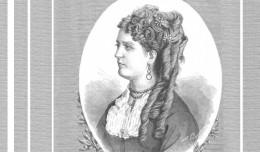 Retrato de Concepción Estevarena a manos de Arturo Carretero y Sánchez, publicado en «La Ilustración Española y Americana».