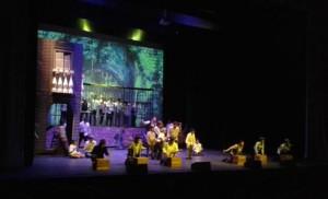 Momento del estreno del pasado sábado 24 / J.L. Burguera