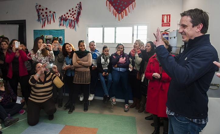Gary Neville en las instalaciones del PEyC en Torreblanca / Juan José Úbeda