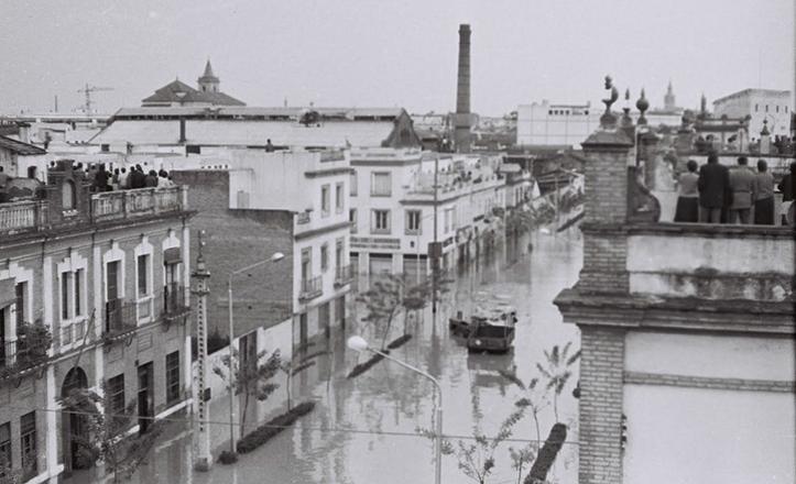 Inundación de Sevilla en 1961: zona de Miraflores