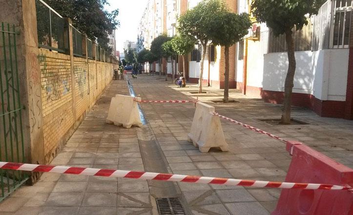 Arreglado el acerado de la calle Jara
