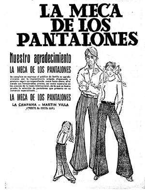 Los pantalones de campana eran la estrella en La Meca, en Martín Villa