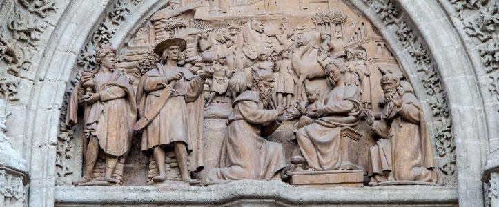 Portada de la Adoración de los Magos o de Palos