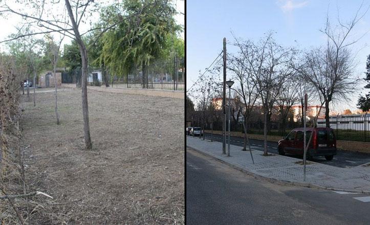 Nuevas plazas de aparcamiento y nuevo acerado en Álvar Núñez Cabeza de Vaca