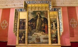 Tabla de la Virgen de los Mareantes, de Alejo Fernández / Fran Piñero