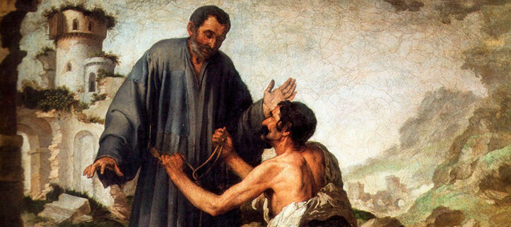 Fray Junípero y el mendigo