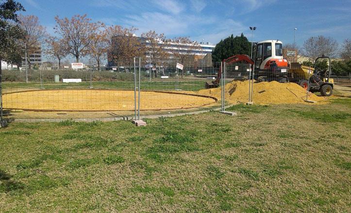 Nueva zona infantil multijuego en el parque de Hacienda San Antonio