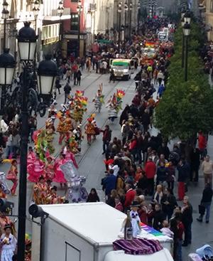 El Carnaval Iberoamericano por la Avenida