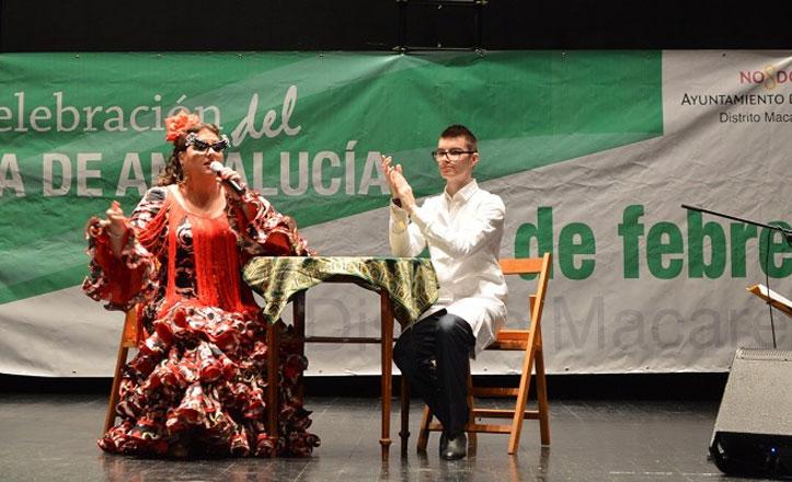 Celebración Día de Andalucía con flamenco