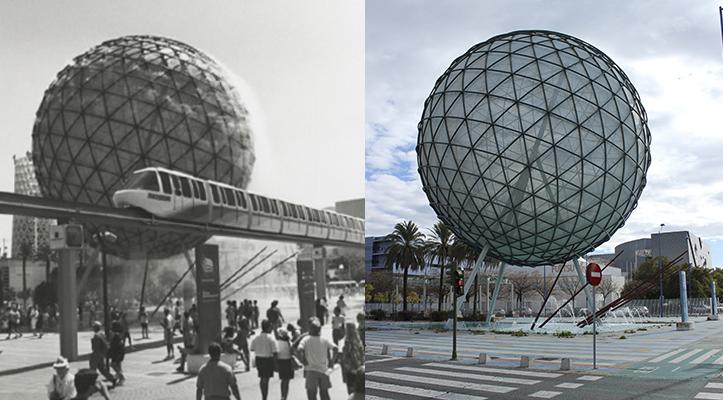 El icónico monorrail es ya un recuerdo de los novedosos transportes que introdujo la Expo 92 / Archivo - Fran Piñero