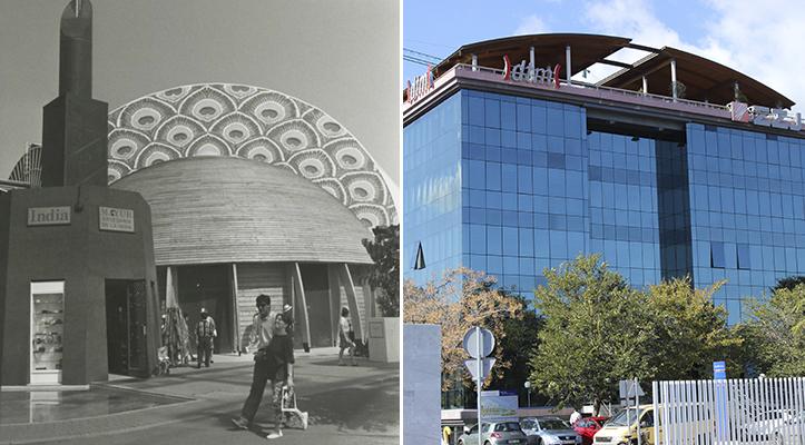 El lugar de la exótica propuesta india en la Expo 92 lo ocupa hoy una productora audiovisual / Archivo - F. Piñero