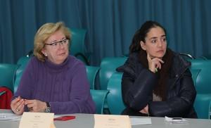 Ana Díaz y Macarena Pérez, vocales socialistas / F.P.