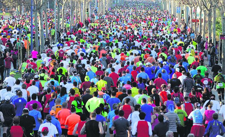 Primeros momentos de la Maratón de Sevilla del pasado año 2014 / Juan José Úbeda