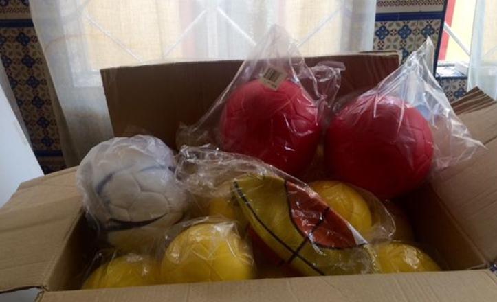Material deportivo financiado por Subvención del Distrito Casco Antiguo