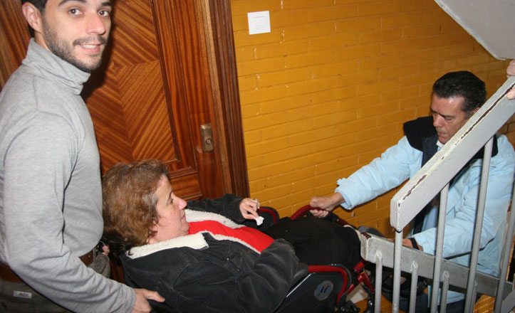 Una rampa de nueva vida para María Dolores Moriñigo