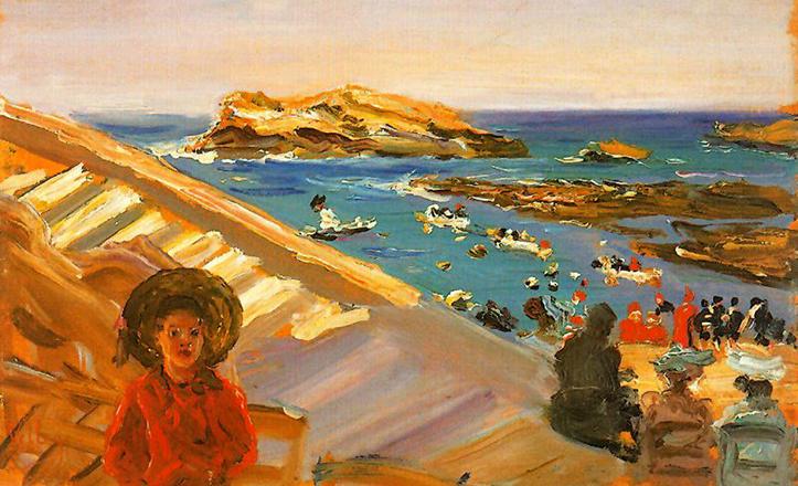 «Un rincón de Biarritz», de 1906, muestra la cara más impresionista de José Villegas