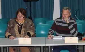 Lola Varela, de El Zodíaco, y José Pizarro, de la AVV León Felipe / F.P.