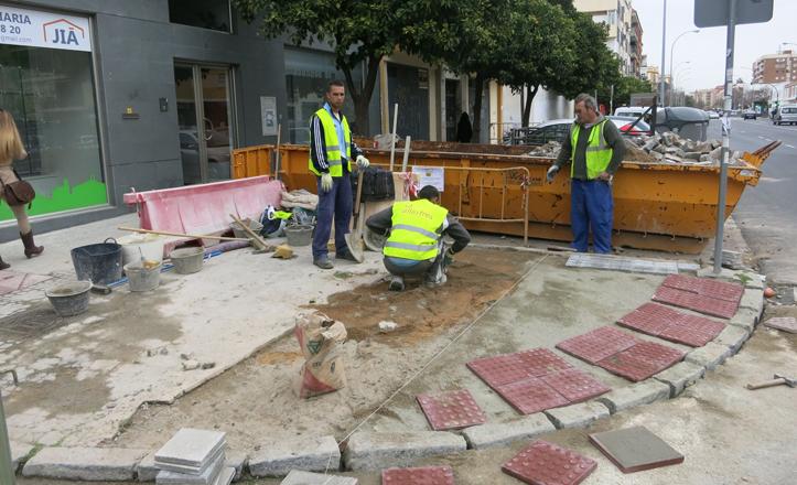Obras en la accesibilidad de la calle Arroyo