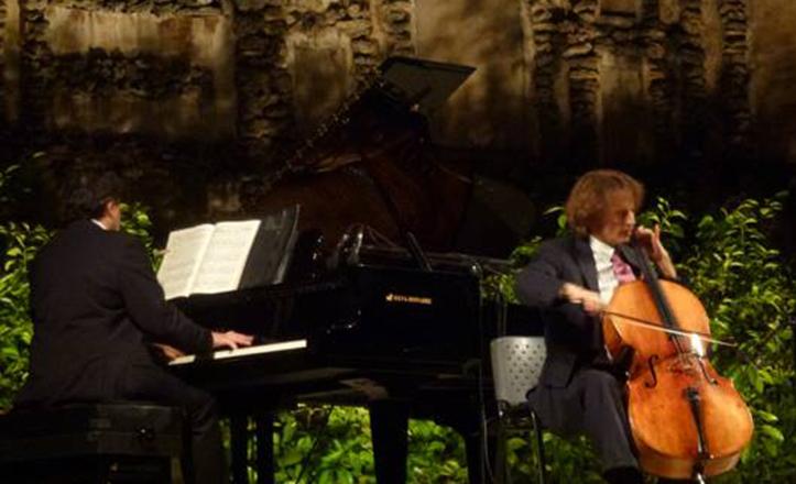 Tommaso Cogato, junto a Dirk Vanhuyse, en la última edición de las Noches en los Jardines del Alcázar / Actidea