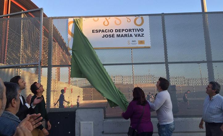 Inauguración de la nueva rotulación en el Centro Deportivo José María Vaz