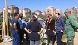 Belmonte visita a los Huertos «La Salud» de Bellavista