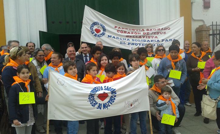 Marche en Bellavista en favor de Guatemala
