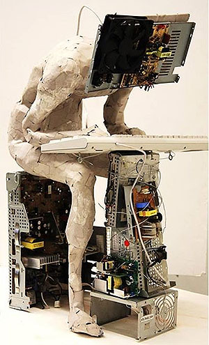 Una de las obras de 'Esculturas emergentes'