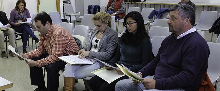 Miembros del grupo popular para la Junta Municipal del Distrito Este-Alcosa-Torreblanca / Fran Piñero