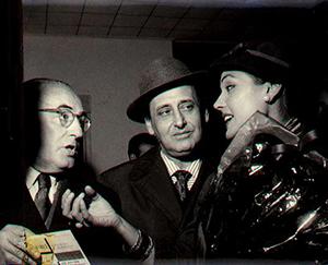 Salvador Valverde junto a Miguel de Molina y Carmen Sevilla, en Buenos Aires